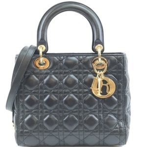 Lady with Strap Quilted Logo Spellout Satchel